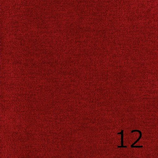 ALFA 12 - piros, puha felületű, magas kopásállóságú  bútorszövet
