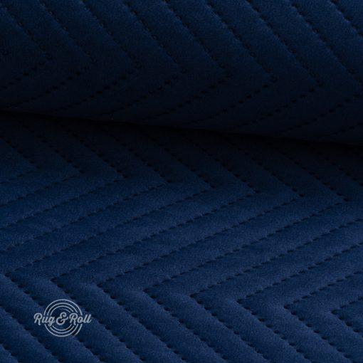 AMOR PIK 4314 - sötétkék, nyomott mintás, vízlepregető prémium bútorszövet
