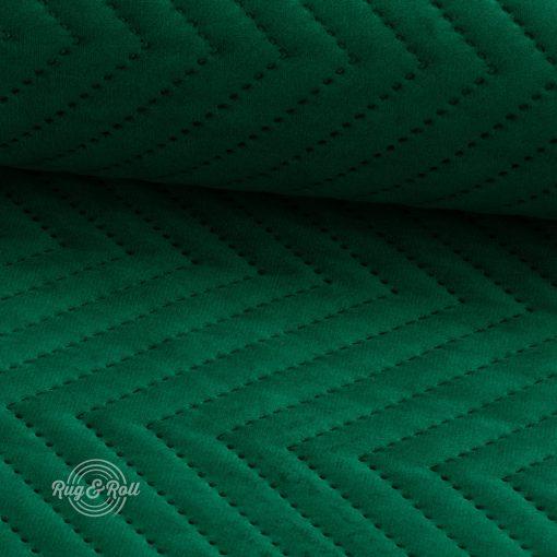 AMOR PIK 4311 - sötétzöld, nyomott mintás, vízlepregető prémium bútorszövet