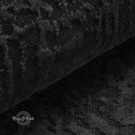 Velvetto 10 - sötétszürke, fényes nyomott mintás, magas kopásállóságú bársony bútorszövet