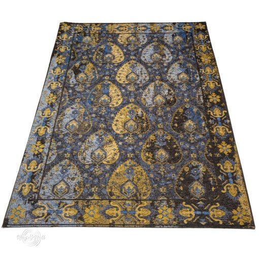 GALA L Keleti perzsamintás kék-arany szőnyeg 160 x 230 cm