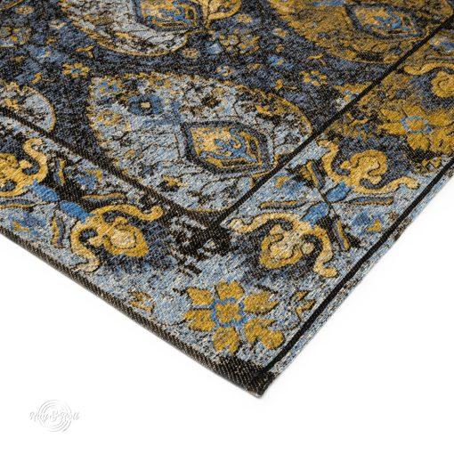 GALA SM Keleti perzsamintás kék-arany szőnyeg 80 x 300 cm