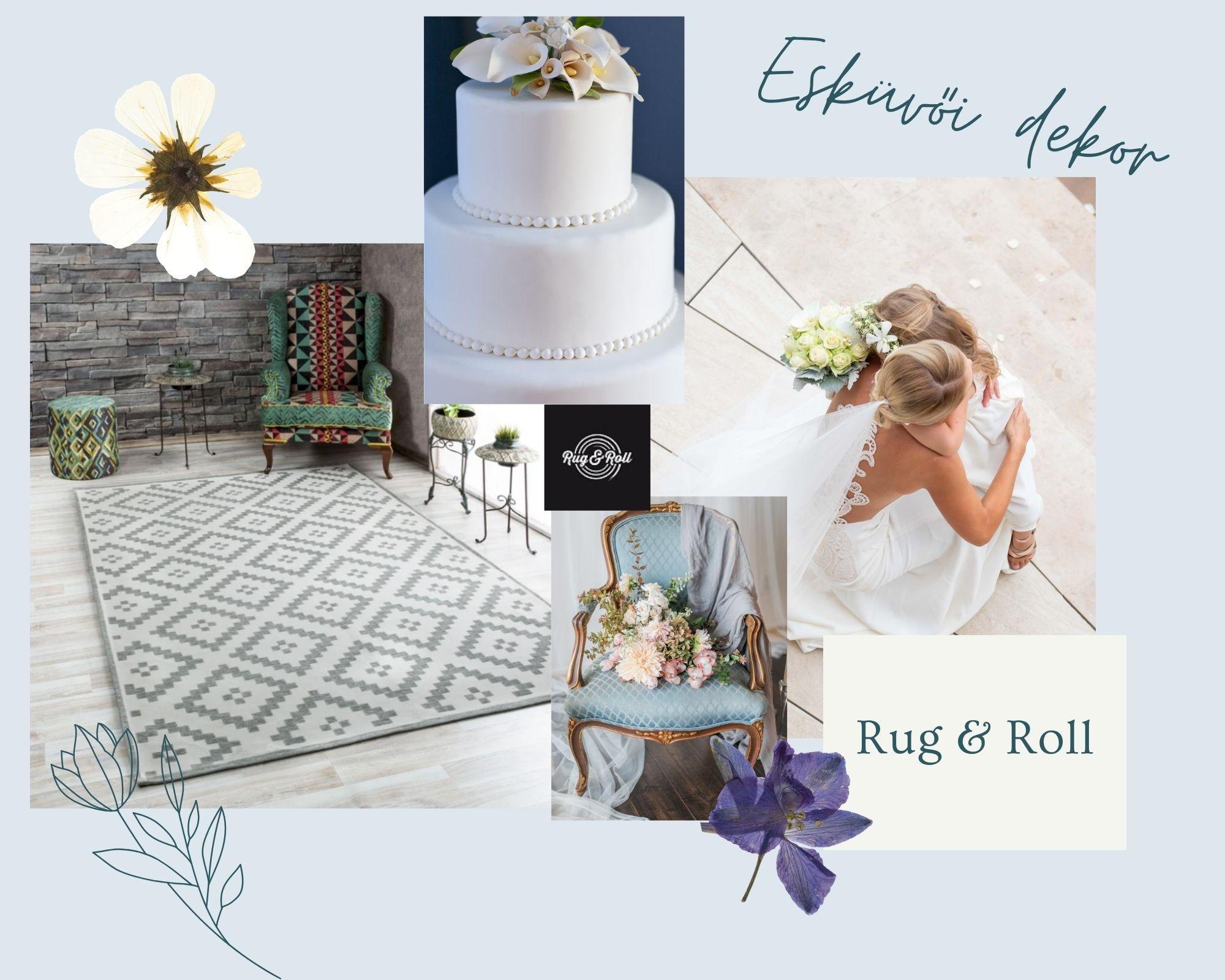 A szőnyeg, mint esküvői dekoráció